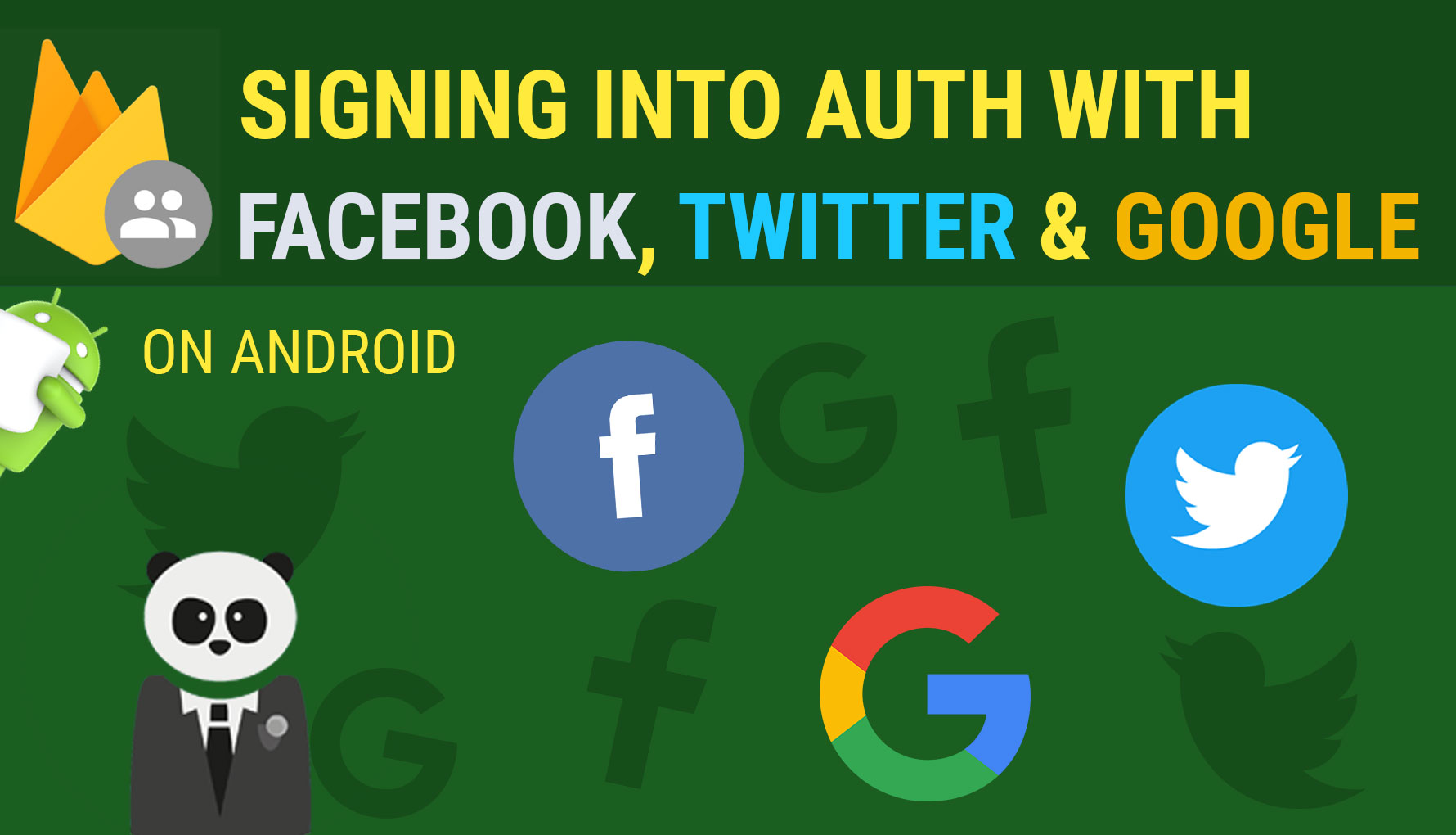Signing into Firebase Authentication with Facebook, Twitter, and Google