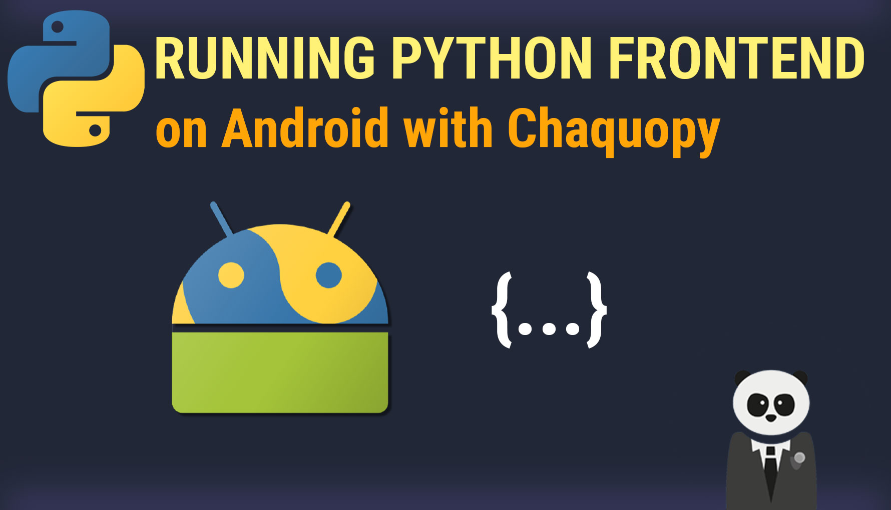 Run Python Scripts in the Android Front-end with Chaquopy