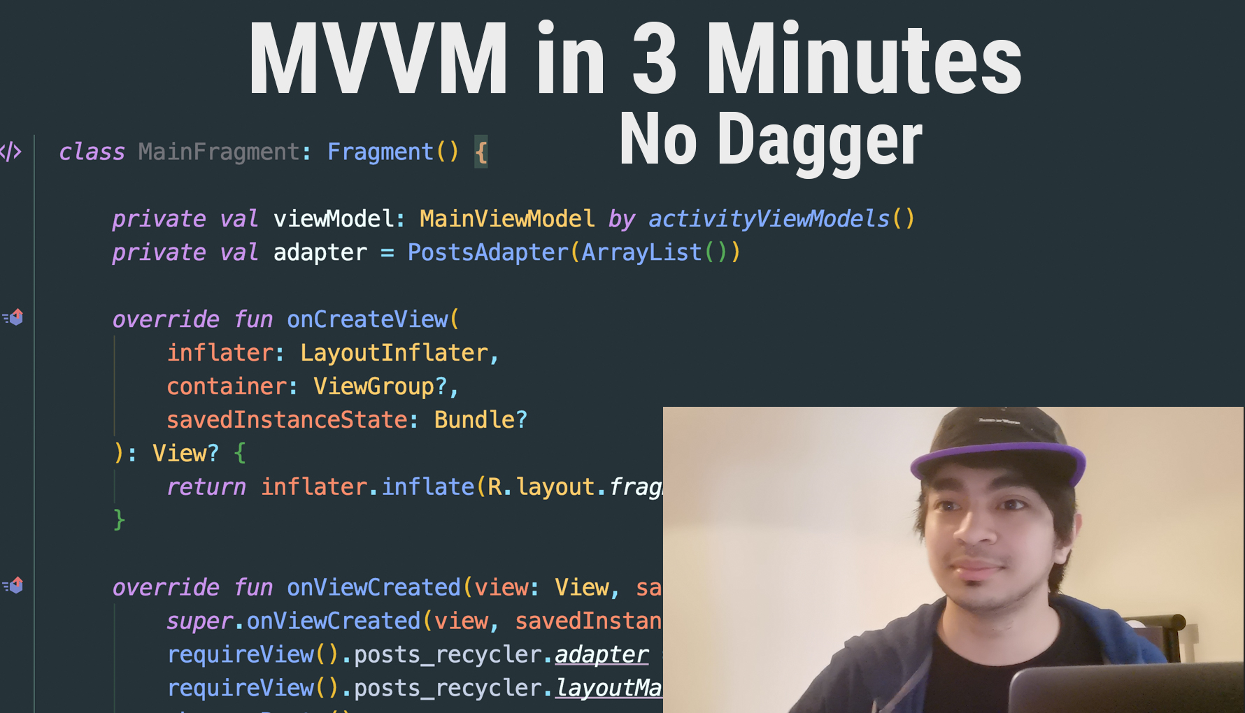 (Video) Android MVVM Tutorial in 3 Minutes